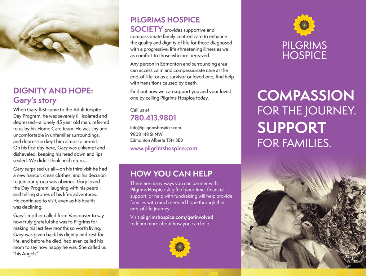 pilgrims hospice brochure page 1
