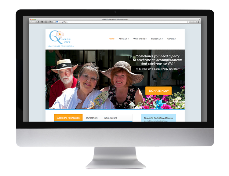 queen's park healthcare foundation web home page