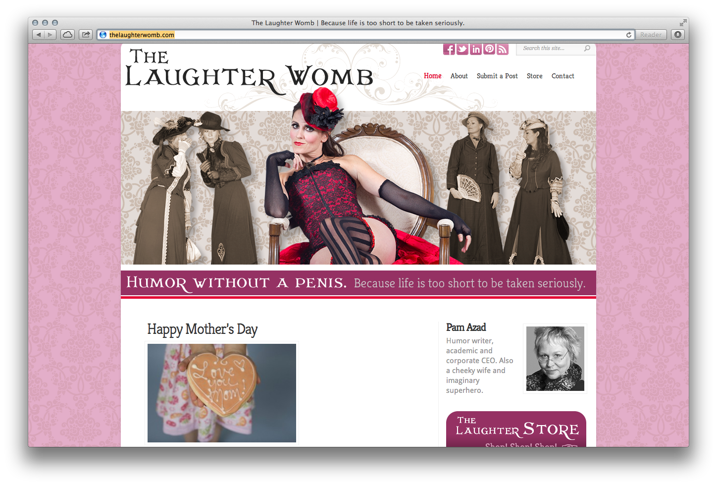 the laughter womb home page