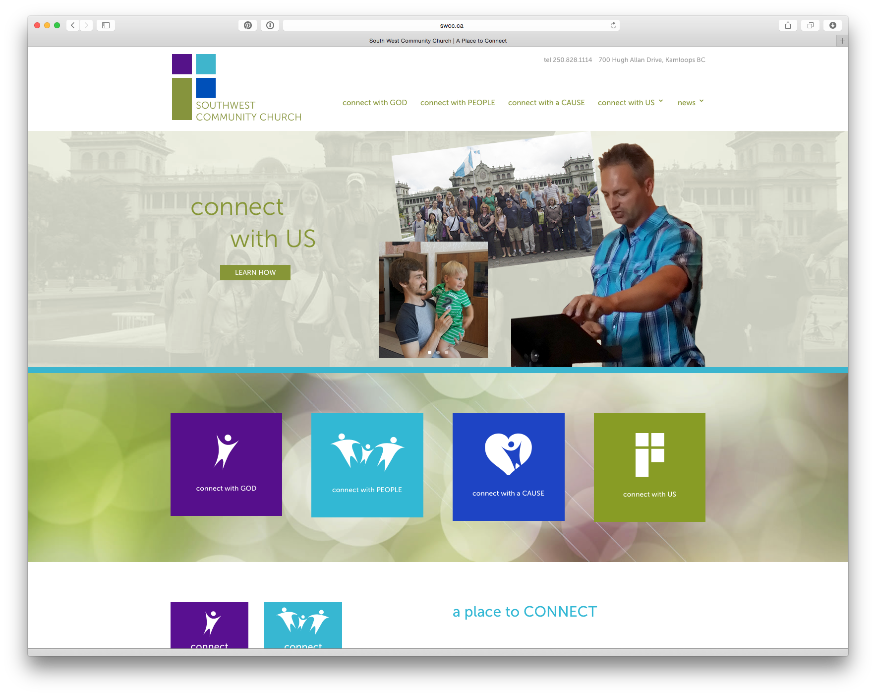 Southwest Community Church web