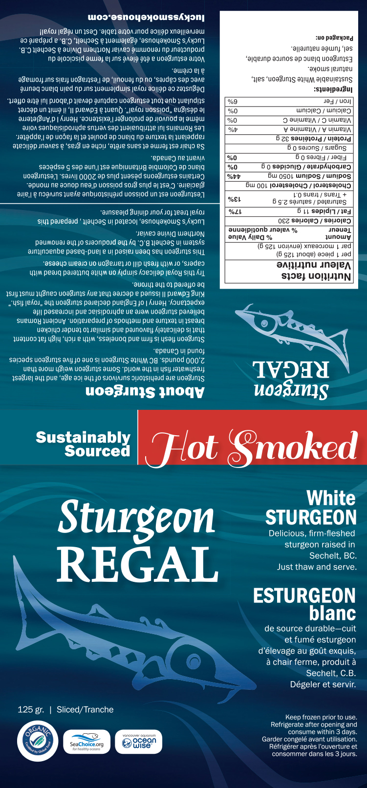 sturgeon regal food packaging