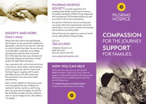 pilgrims hospice brochure page 1