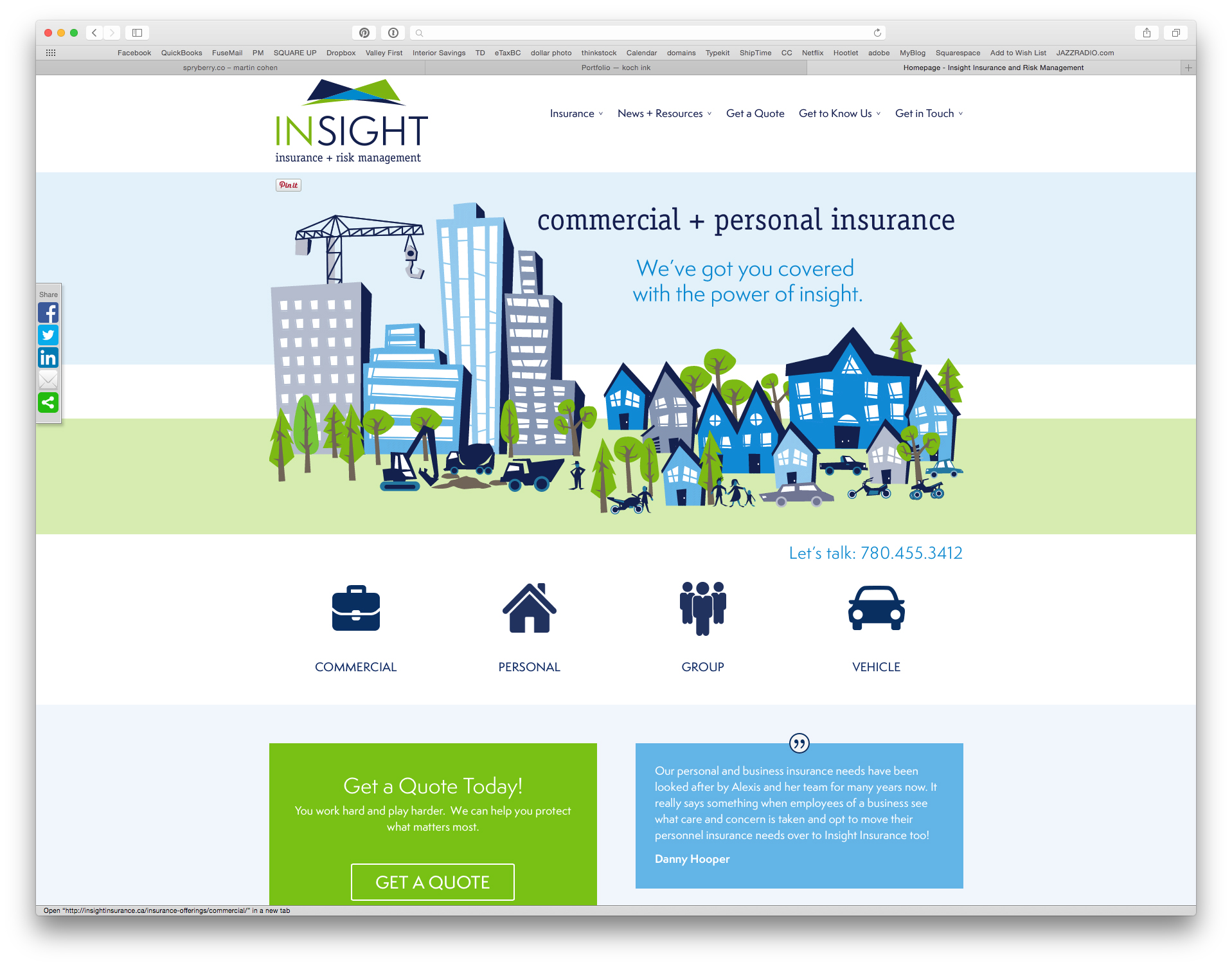 insight insurance home page