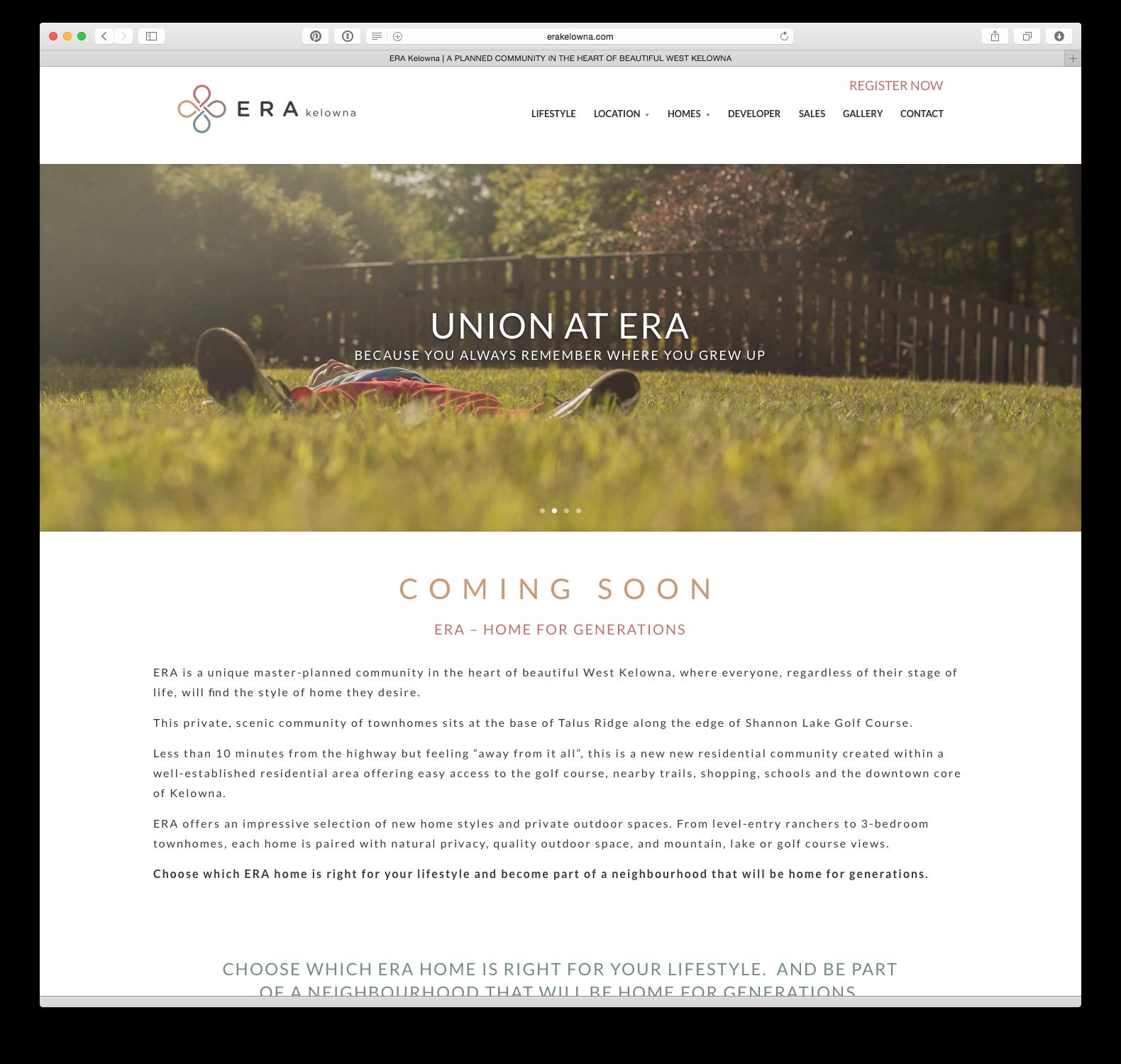 ERA Kelowna home page