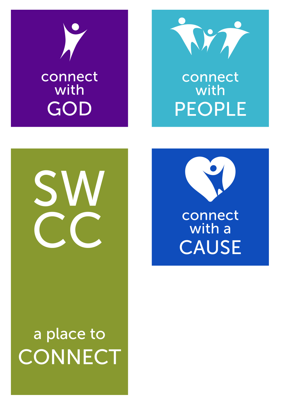 framework diagram - connect with god, people, cause