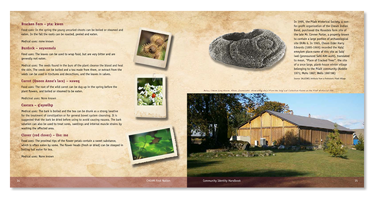 cheam first nation brochure sample pages