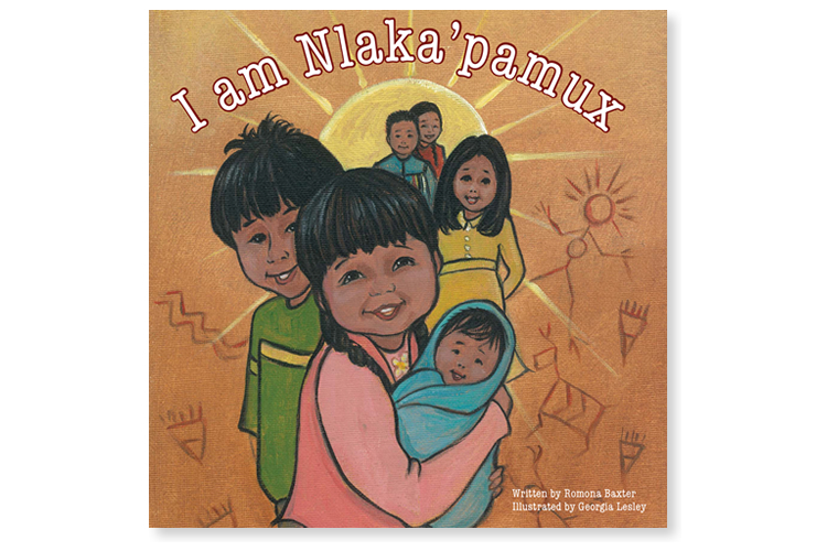 I am Nlaka'pamux - children's book cover