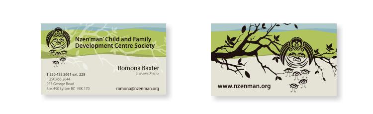 nzen'man' biz card