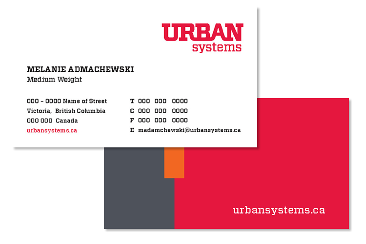 urban systems biz card